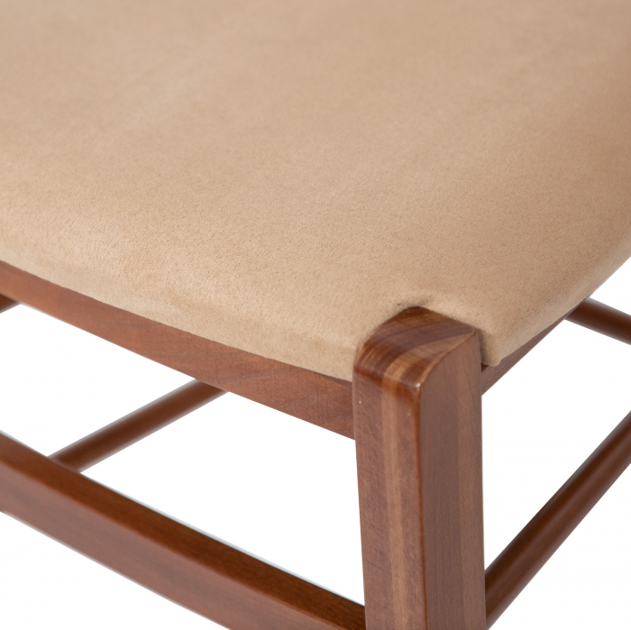 Scaun din lemn Venetia tapitat nuc [5]