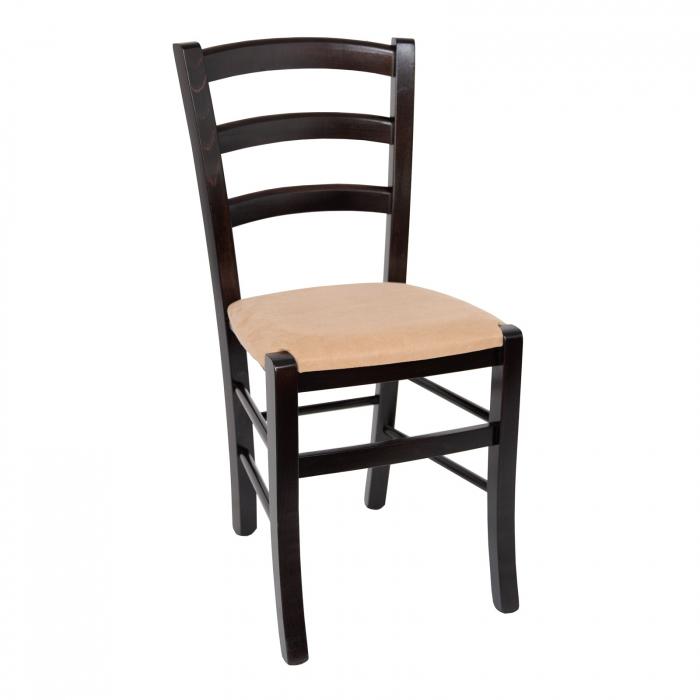 Scaun din lemn Venetia tapitat wenge [0]