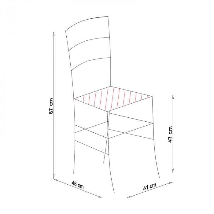 Scaun din lemn Venetia tapitat wenge [6]