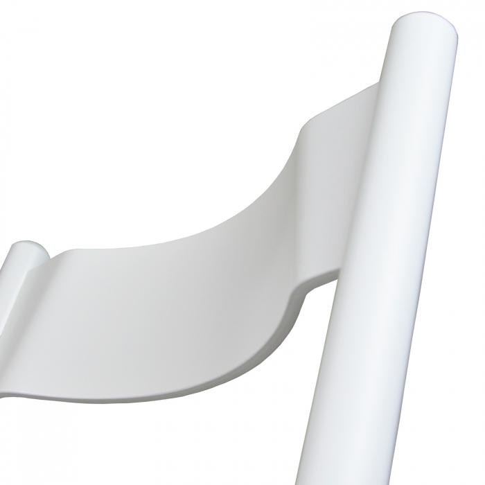 Scaun pliant din lemn Caprice tapitat alb [4]