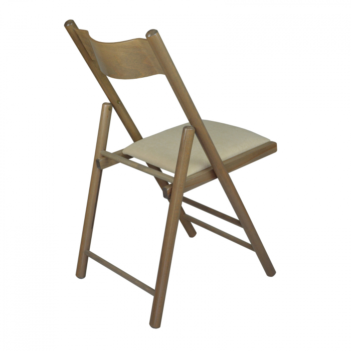 Scaun pliant din lemn Caprice tapitat maro-trufa [2]