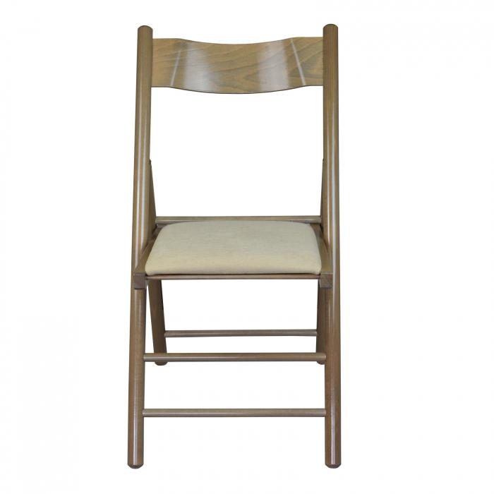 Scaun pliant din lemn Caprice tapitat maro-trufa [4]