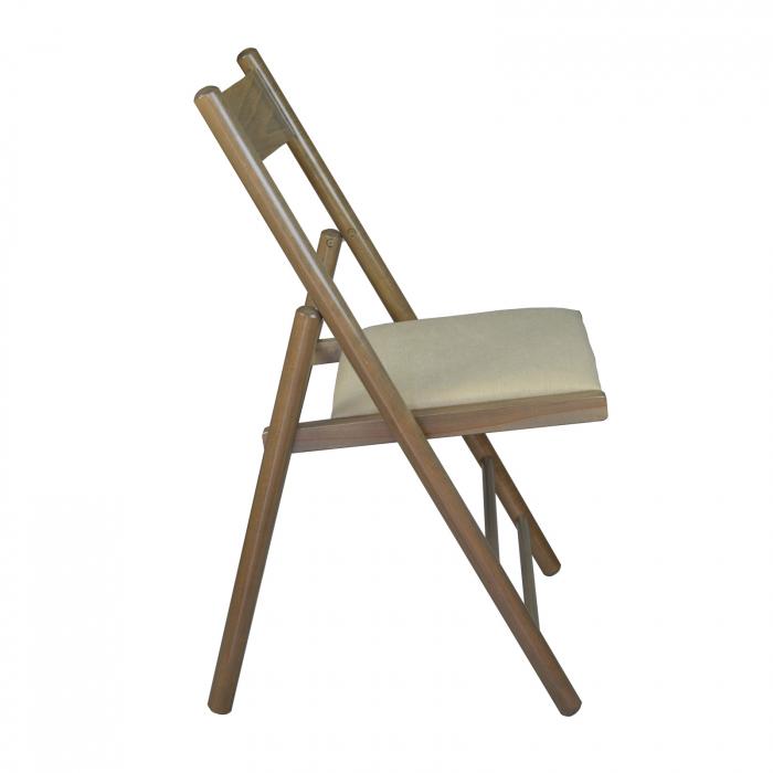 Scaun pliant din lemn Caprice tapitat maro-trufa [1]