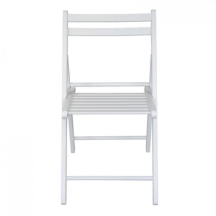 Scaun pliant din lemn IGOR alb [7]