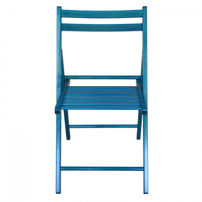 Scaun pliant din lemn IGOR albastru [4]
