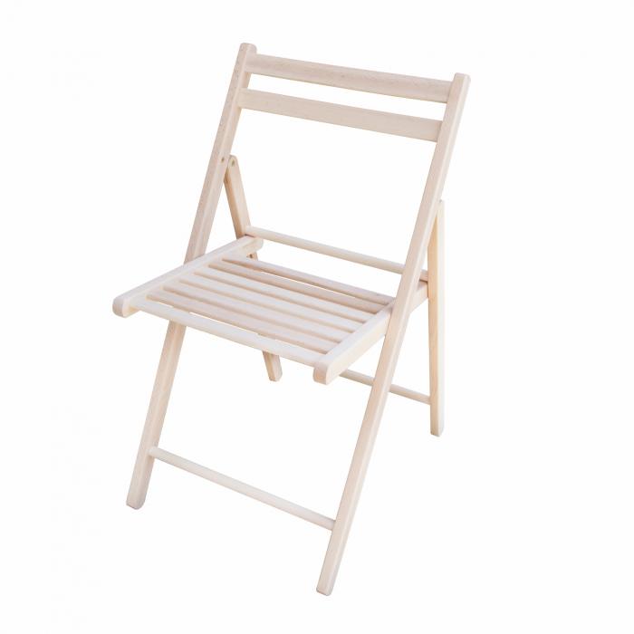 Scaun pliant din lemn IGOR crud [0]