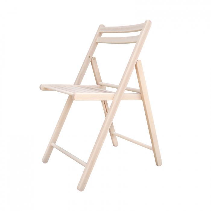 Scaun pliant din lemn IGOR crud [1]