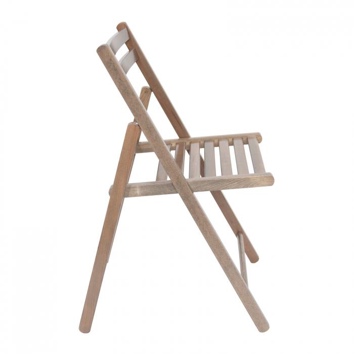 Scaun pliant din lemn IGOR maro-trufa [1]