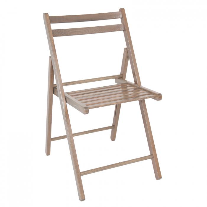 Scaun pliant din lemn IGOR maro-trufa [8]