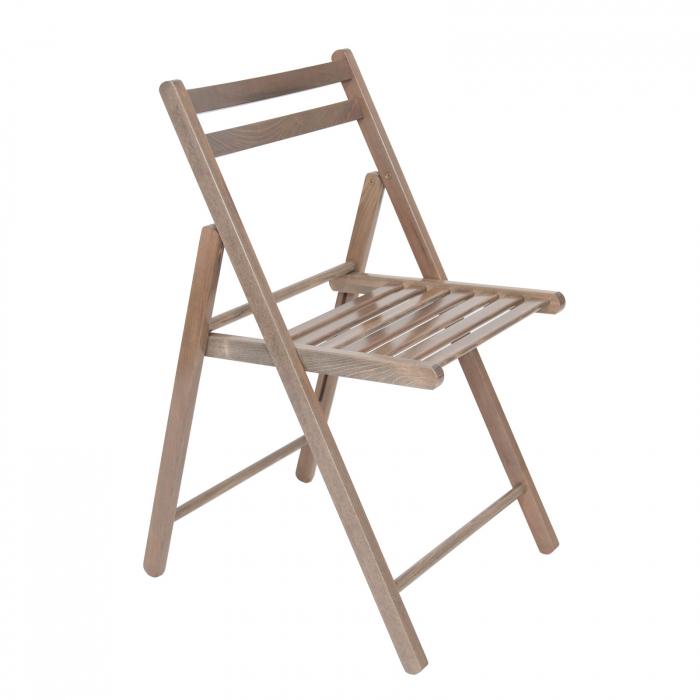 Scaun pliant din lemn IGOR maro-trufa [0]