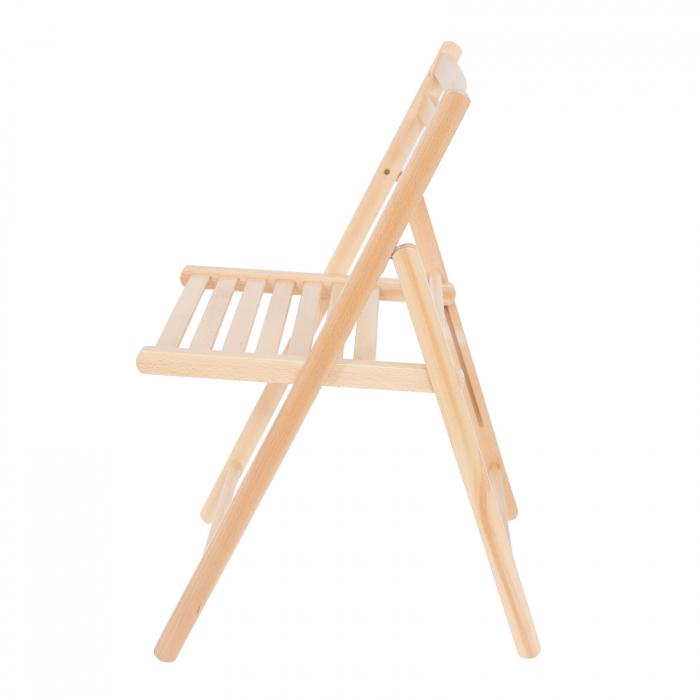 Scaun pliant din lemn IGOR natur [6]