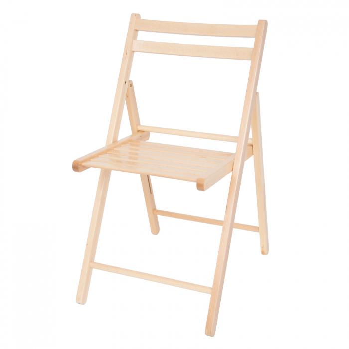 Scaun pliant din lemn IGOR natur [7]