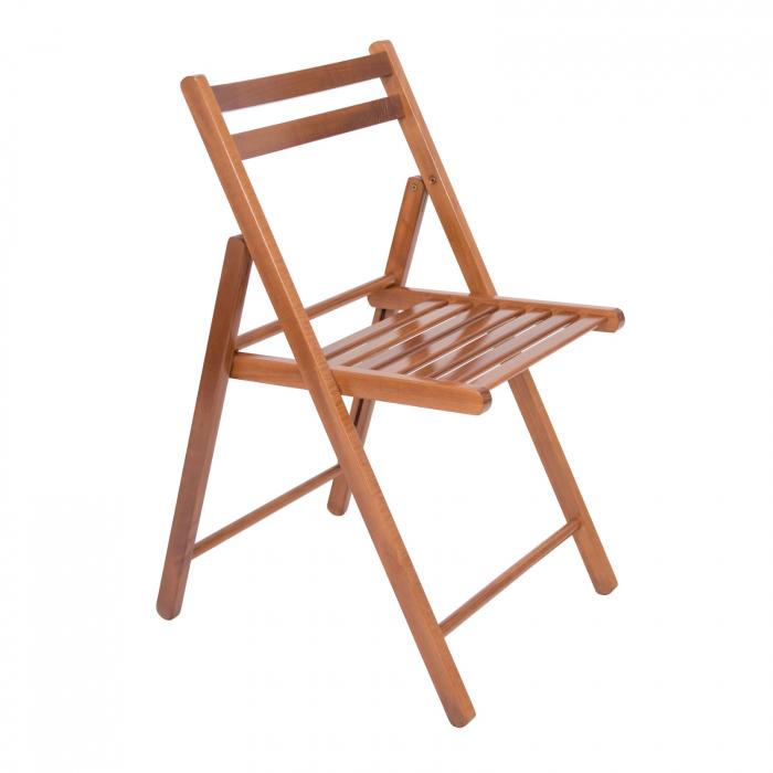 Scaun pliant din lemn IGOR nuc [0]