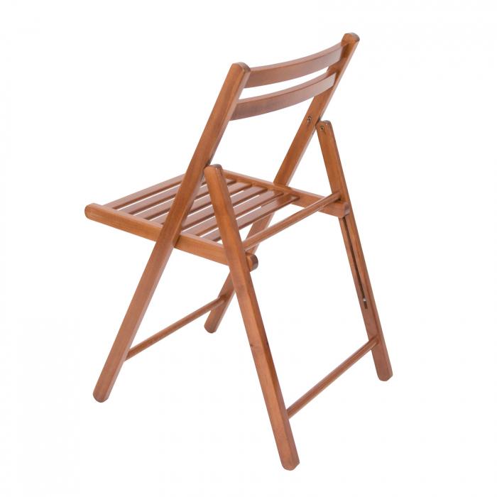 Scaun pliant din lemn IGOR nuc [6]