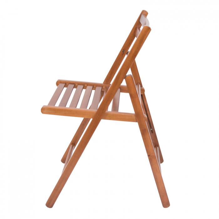 Scaun pliant din lemn IGOR nuc [7]