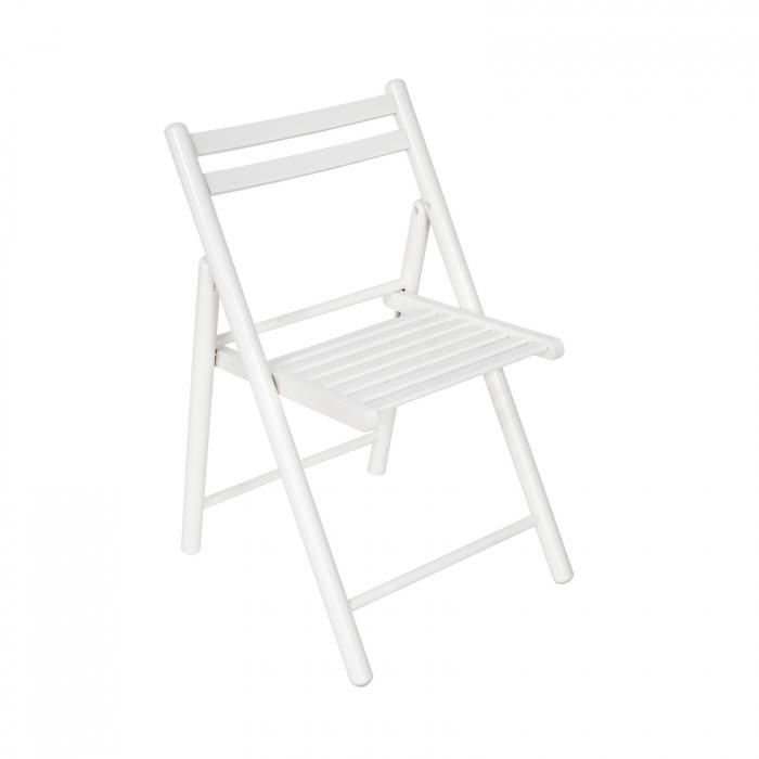Scaun pliant din lemn IGOR R alb [0]