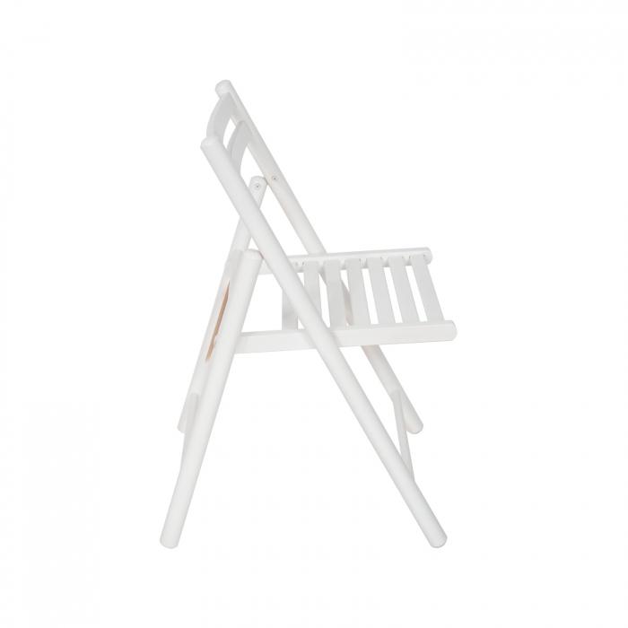 Scaun pliant din lemn IGOR R alb [1]