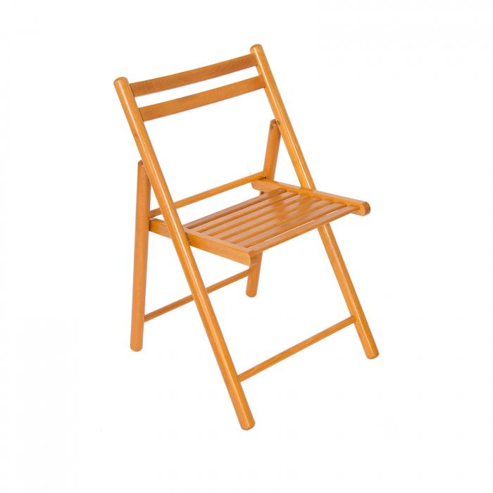 Scaun pliant din lemn IGOR R cires [0]