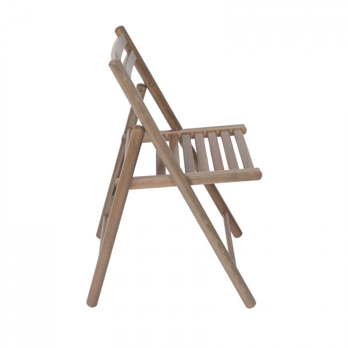 Scaun pliant din lemn IGOR R maro-trufa [1]