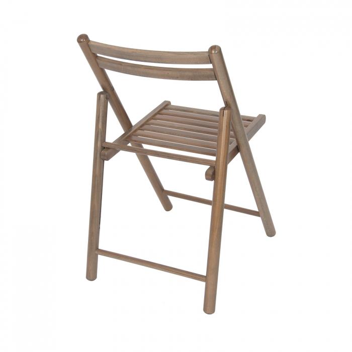 Scaun pliant din lemn IGOR R maro-trufa [2]