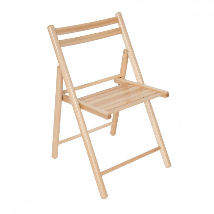 Scaun pliant din lemn IGOR R natur [0]