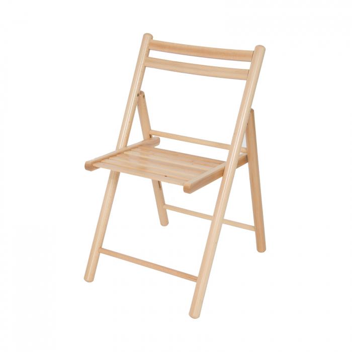 Scaun pliant din lemn IGOR R natur [4]