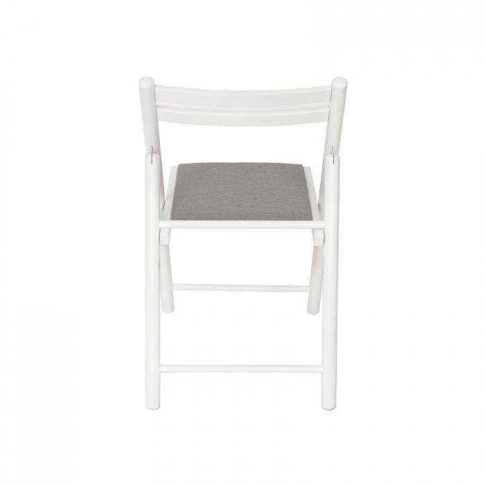 Scaun pliant din lemn IGOR R tapitat alb [3]