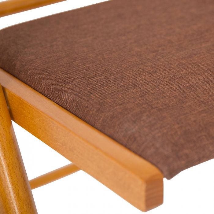 Scaun pliant din lemn IGOR R tapitat cires [6]