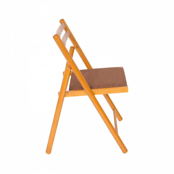 Scaun pliant din lemn IGOR R tapitat cires [1]