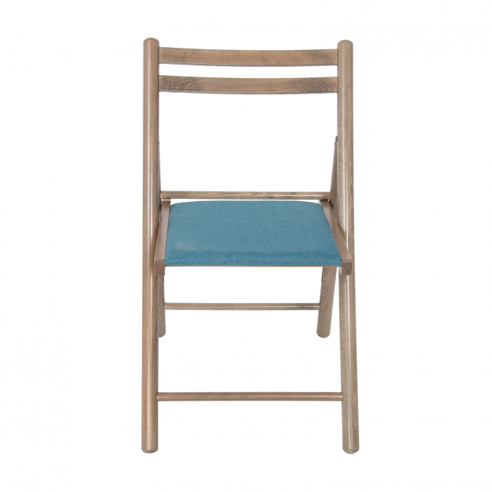 Scaun pliant din lemn IGOR R tapitat maro-trufa [5]