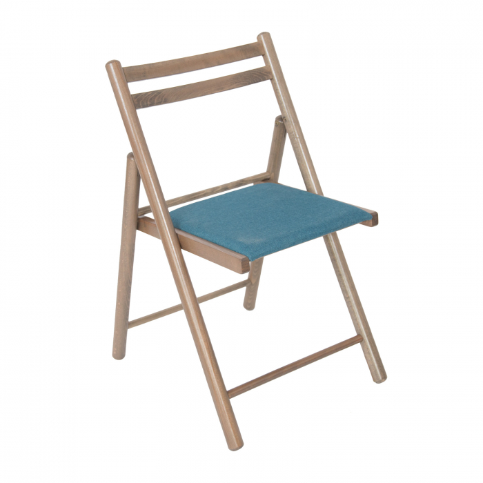 Scaun pliant din lemn IGOR R tapitat maro-trufa [0]