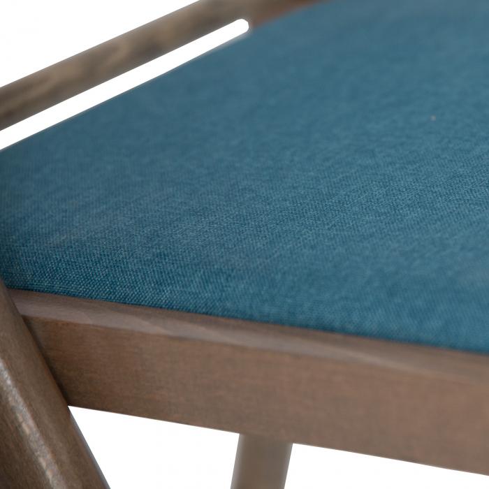 Scaun pliant din lemn IGOR R tapitat maro-trufa [6]