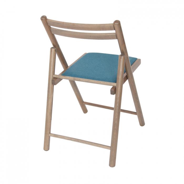 Scaun pliant din lemn IGOR R tapitat maro-trufa [2]