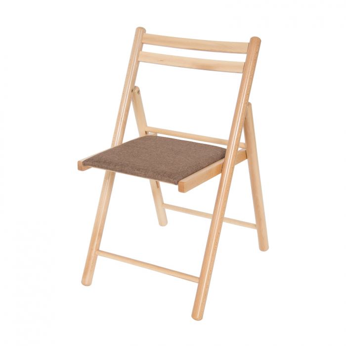 Scaun pliant din lemn IGOR R tapitat natur [4]