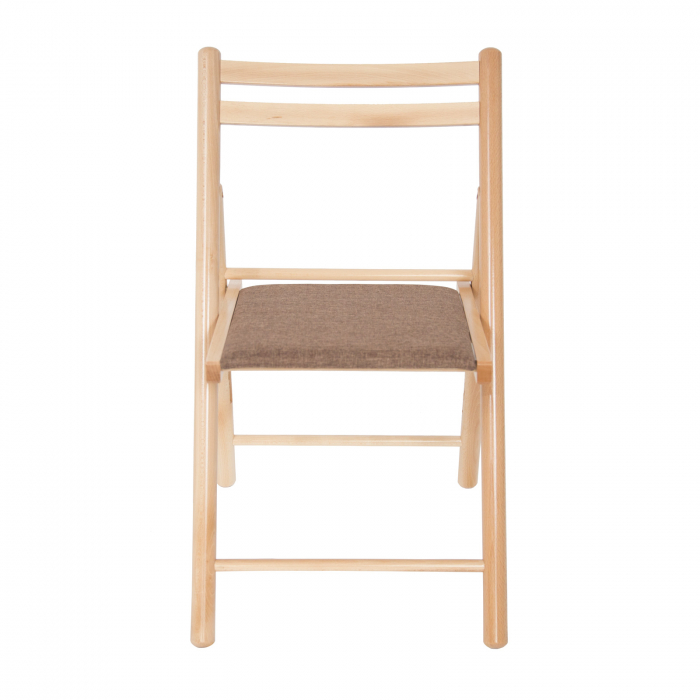 Scaun pliant din lemn IGOR R tapitat natur [5]