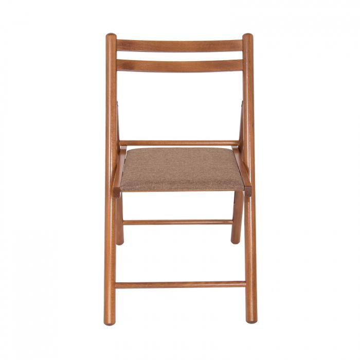 Scaun pliant din lemn IGOR R tapitat nuc [5]