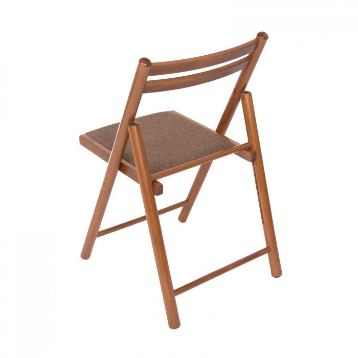 Scaun pliant din lemn IGOR R tapitat nuc [3]