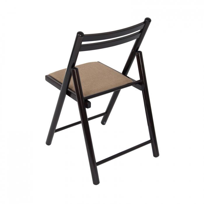 Scaun pliant din lemn IGOR R tapitat wenge [3]