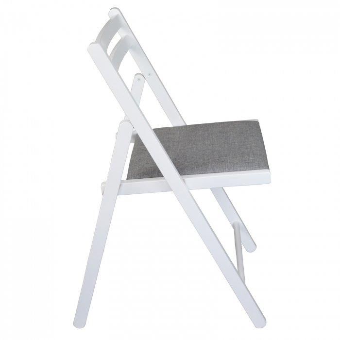 Scaun pliant din lemn IGOR tapitat alb [1]