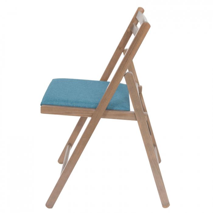 Scaun pliant din lemn IGOR tapitat maro-trufa [5]