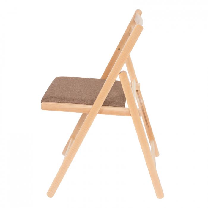 Scaun pliant din lemn IGOR tapitat natur [5]