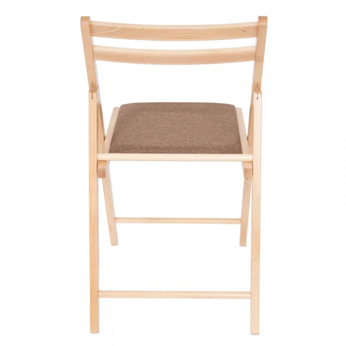 Scaun pliant din lemn IGOR tapitat natur [3]