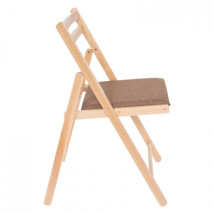 Scaun pliant din lemn IGOR tapitat natur [1]