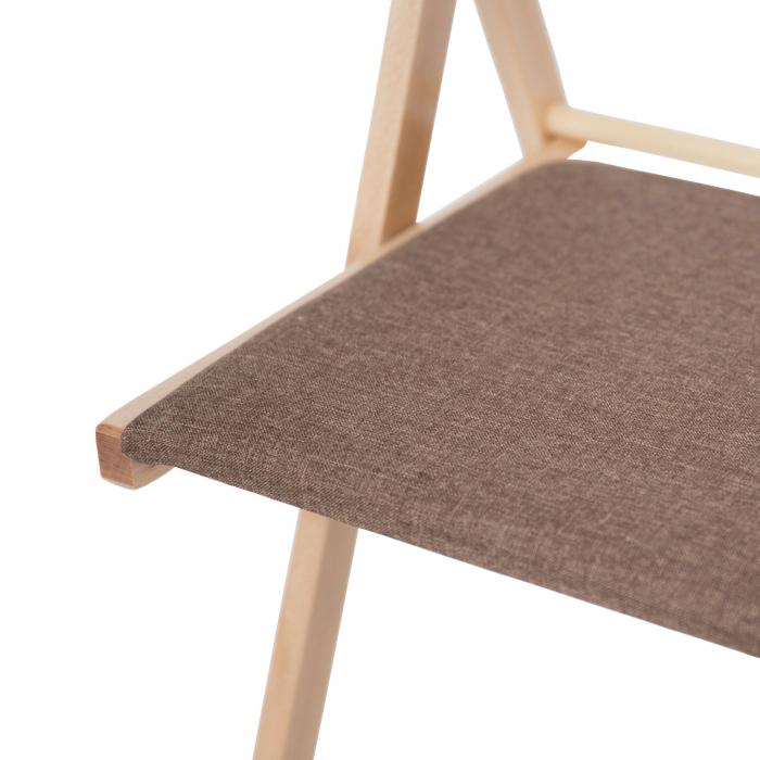 Scaun pliant din lemn IGOR tapitat natur [8]