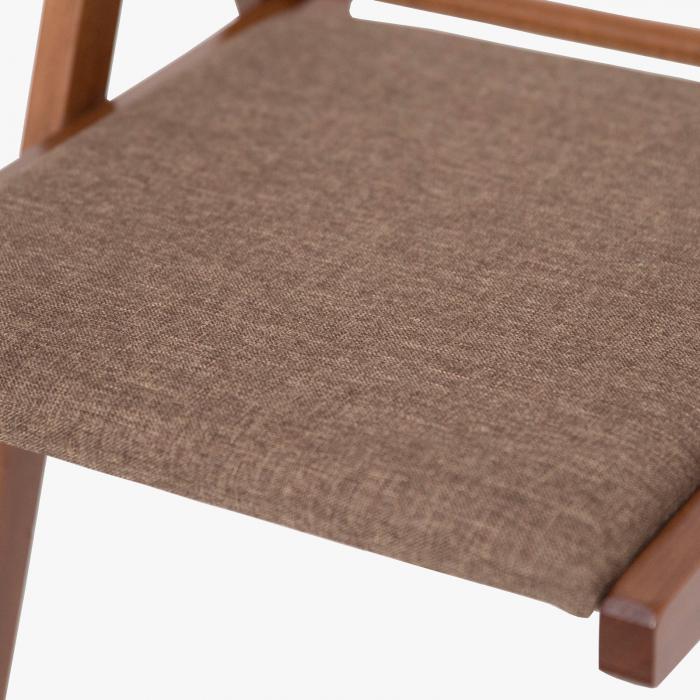 Scaun pliant din lemn IGOR tapitat nuc [8]