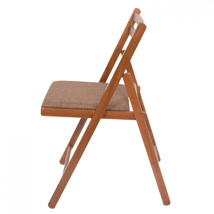 Scaun pliant din lemn IGOR tapitat nuc [5]