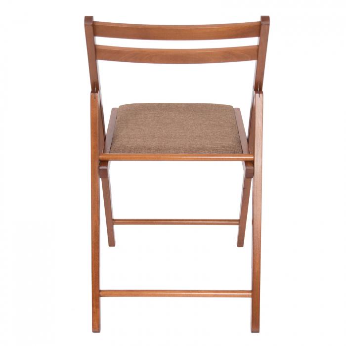 Scaun pliant din lemn IGOR tapitat nuc [3]