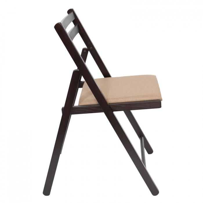 Scaun pliant din lemn IGOR tapitat wenge [1]