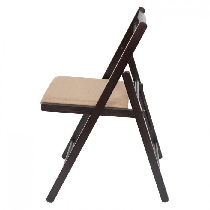Scaun pliant din lemn IGOR tapitat wenge [5]