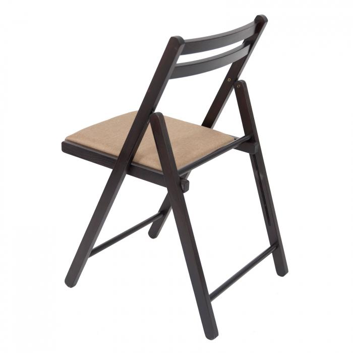 Scaun pliant din lemn IGOR tapitat wenge [4]